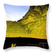 Incan Ruins Sacred Valley Peru Throw Pillow