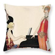 Incantation Throw Pillow by Georges Barbier