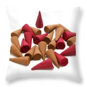 Incense Cones Throw Pillow
