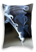 Incense Smoke Dance - Smoke - Dance Throw Pillow