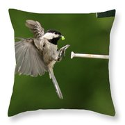 Incoming II Throw Pillow