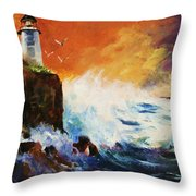 Incoming Squall Throw Pillow