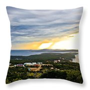 Incoming Storm Over Losinj Island Throw Pillow