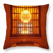 Incredible Art Nouveau Antique Grand Central Station - New York Throw Pillow