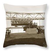 Incredible Hanging Railway  1900 Throw Pillow