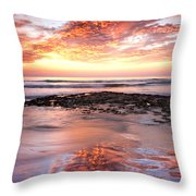Incredible Sunset Throw Pillow by Julianne Bradford