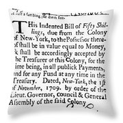 Indented Banknote, 1709 Throw Pillow