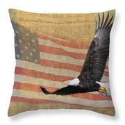 Independence Throw Pillow by Angie Vogel