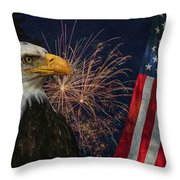 Independence Day Throw Pillow by Angie Vogel