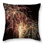 Independence Day Fireworks Throw Pillow