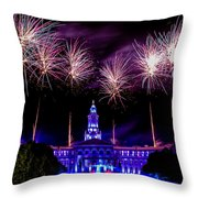 Independence Eve In Denver Colorado Throw Pillow