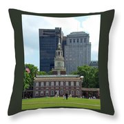 Independence Hall Throw Pillow