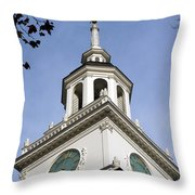 Independence Hall Bell Tower Throw Pillow