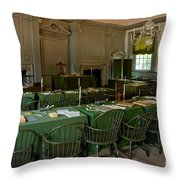 Independence Hall In Philadelphia Throw Pillow
