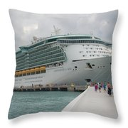 Independence Of The Seas Throw Pillow