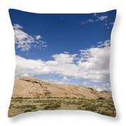 Independence Rock Wy Throw Pillow