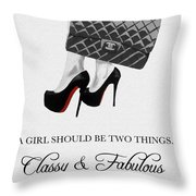 Independent Quote Black And White Throw Pillow