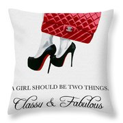 Independent Quote Throw Pillow