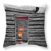 Independent Sunset Throw Pillow