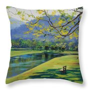 Inder The Shade Throw Pillow