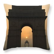 India Gate, Delhi Throw Pillow