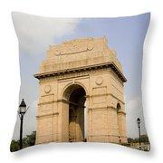 India Gate, New Delhi, India Throw Pillow