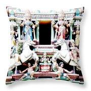 India Religion Throw Pillow