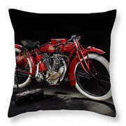 Indian 8-valve Racer Throw Pillow