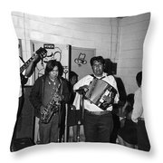 Indian Bar The Lucky Dollar  Tohono O'odham Chicken Scratch Band South Tucson Arizona 1975 Throw Pillow