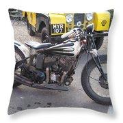 Indian Bike Throw Pillow