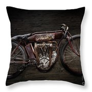 Indian Board Track Racer Throw Pillow