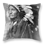 Indian Chief - 1902 Throw Pillow