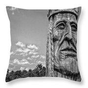 Indian Chief Charlestowne Landing Throw Pillow