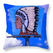 Indian Chief Sign Throw Pillow