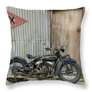 Indian Chout At The Old Okains Bay Garage 2 Throw Pillow