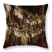 Indian Corn Harvest Throw Pillow