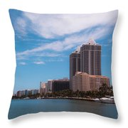 Indian Creek And Blue Tower Condos Throw Pillow