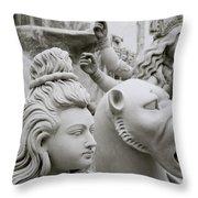 Beautiful Durga Throw Pillow