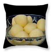 Indian Dessert - Rasgulla Throw Pillow