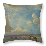 Indian Encampment Throw Pillow