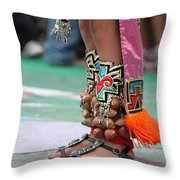 Indian Feet Throw Pillow