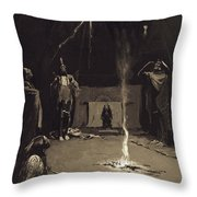 Indian Fire God. The Going Of The Medicine-horse Throw Pillow