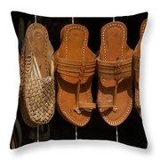 Indian Footware Throw Pillow