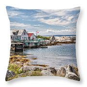 Indian Harbour Throw Pillow by Gene Healy
