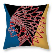 Indian Head Series 01 Throw Pillow