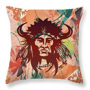 Indian Head Series 02 Throw Pillow