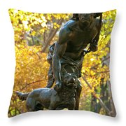 Indian Hunter Throw Pillow