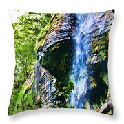 Indian Ladder Falls 2 Throw Pillow