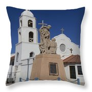 Indian Mission Monument Throw Pillow