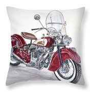 Indian Motorcycle Throw Pillow